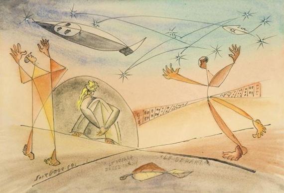 Le Voyage Dans L'Infini, Le Depart, 1959 - Leopold Survage
