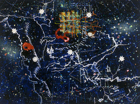 Space Station (Falls Said to be the Largest in the Known World So Far), 1999 - Landon Mackenzie