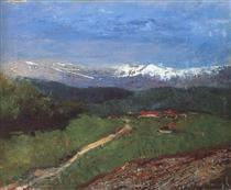 Landscape in the Alps (View from the Rax) - Laszlo Mednyanszky
