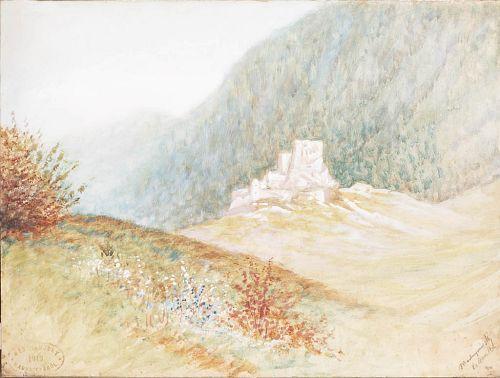Ruins of a Castle - Laszlo Mednyanszky