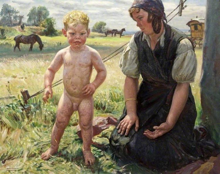 The Little Beggar, 1947 - Laura Knight