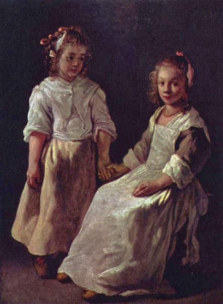 Two girls, c.1640 - Le Nain (Irmãos Le Nain)