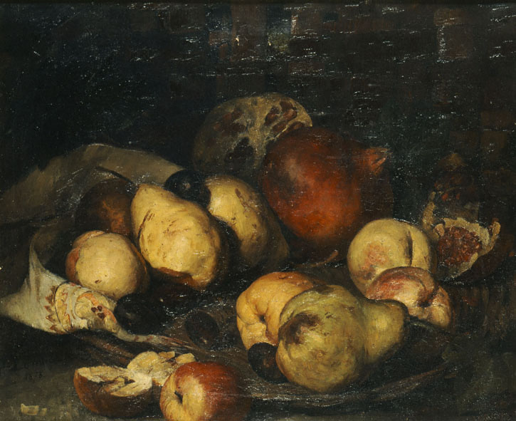 Basket with fruits, 1878 - Поліхроніс Лембесіс
