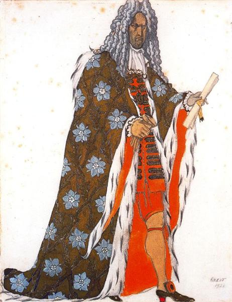 Costume design for The Master of Ceremonies, from Sleeping Beauty, 1921 - Leon Bakst