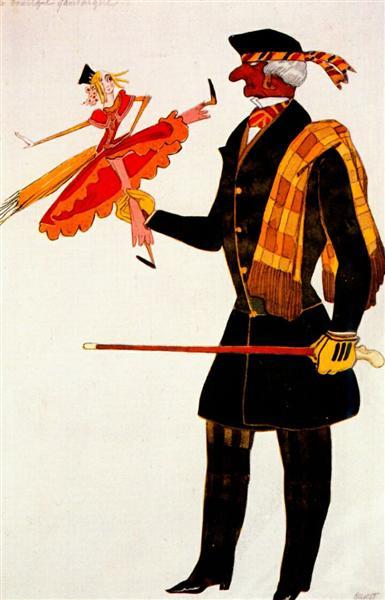 Costume for the Englishman, from La Boutique Fantastique, 1917 - Leon Bakst