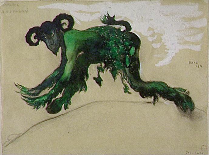 DrawingyoungdivinityNarcissecostume,balletDiaghilev, 1911 - Leon Bakst