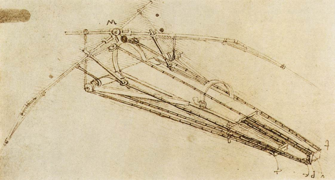 Design for a flying machine, 1488