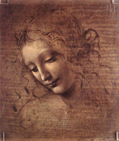 Head of a Young Woman with Tousled Hair (Leda), c.1508 - Leonardo da Vinci