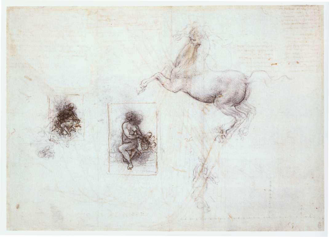 Studies of Leda and a horse, 1504