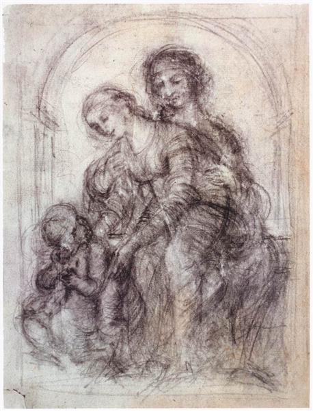 Study for St. Anne, c.1501 - Leonardo da Vinci