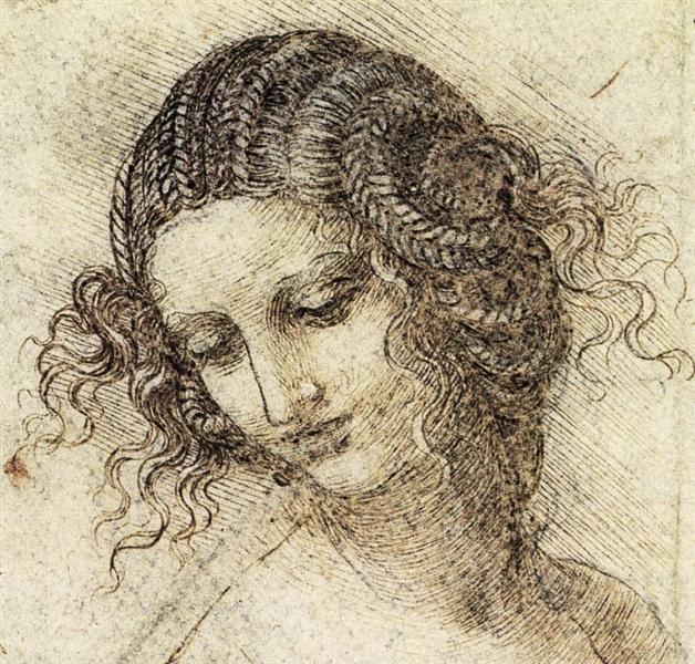 Study for the Head of Leda, c.1506 - Leonardo da Vinci