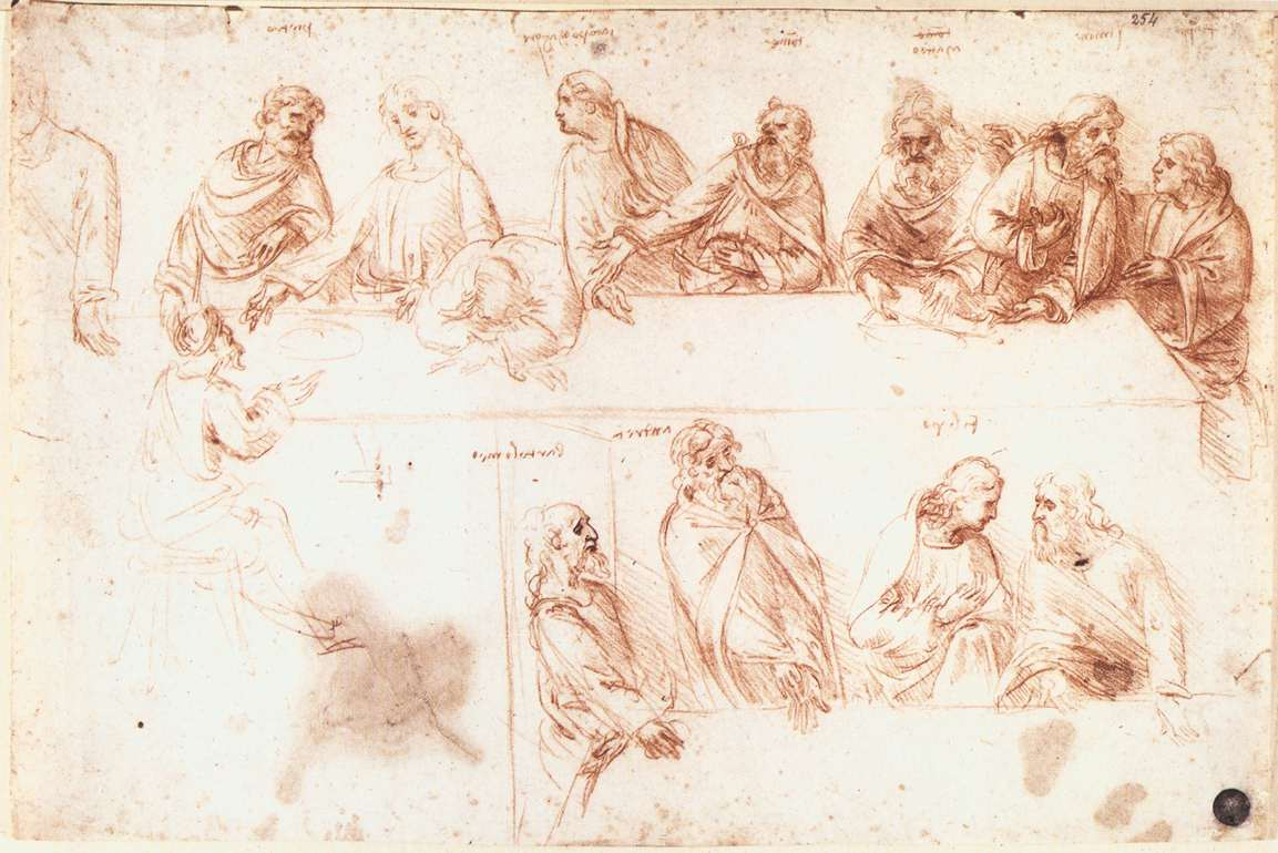 Study for the Last Supper, 1494