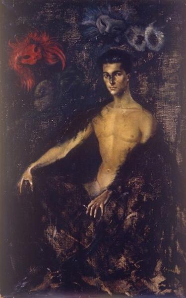 The Man With Masks, 1949 - Leonor Fini