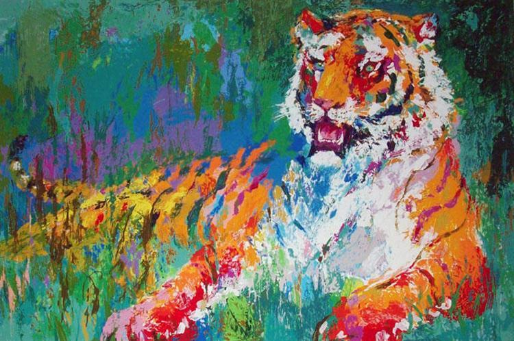 Resting Tiger - LeRoy Neiman