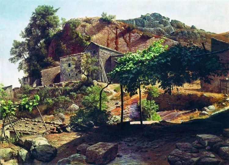 Southern landscape, 1866 - Лев Лагорио