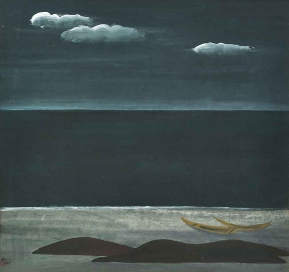 Boats on Coast - Lin Fengmian