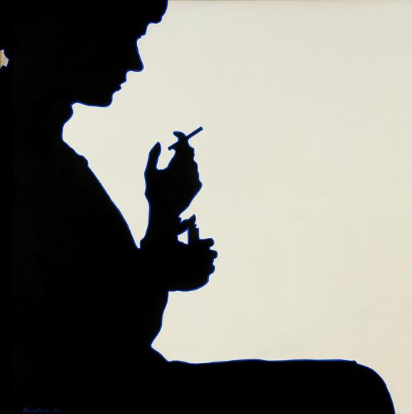 Sombra Projectada de Claudine Bury, 1964 - Lourdes Castro