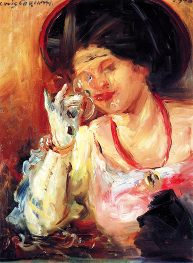 Woman with a Glass of Wine, 1908 - Lovis Corinth