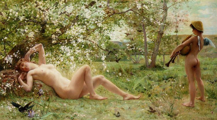 Springtime Awakening, 1884 - Люк-Олів'є Мерсон