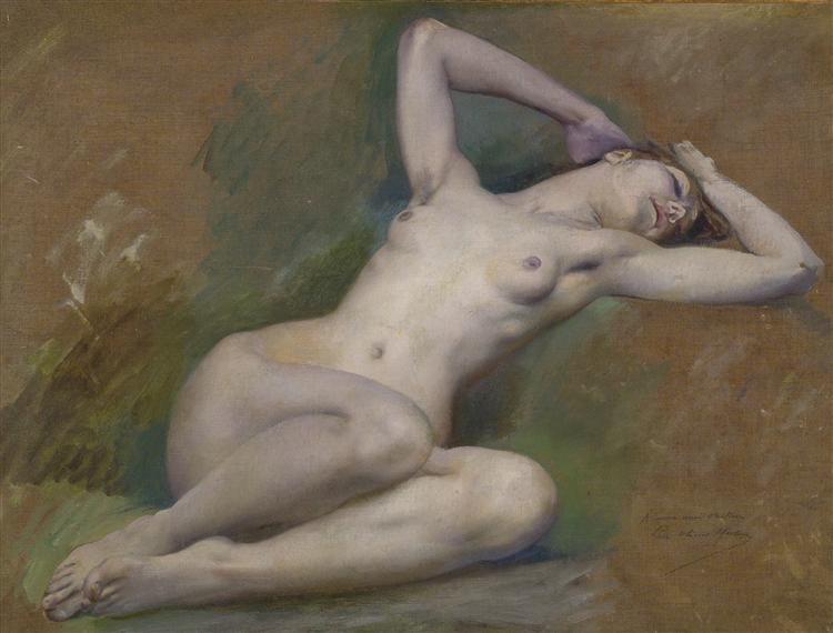 """Study for the figure of """"Spring"""" at l'Opéra-Comique, Paris, 1920 - Люк-Олів'є Мерсон"""