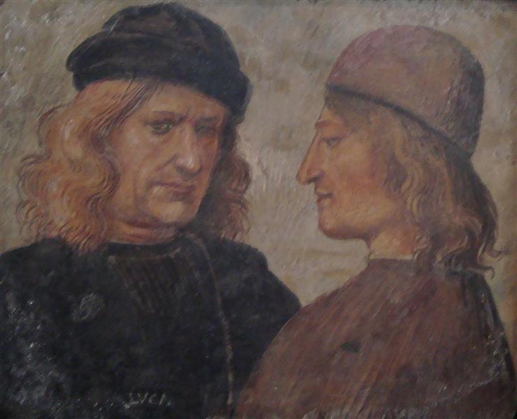 Self-portrait of Luca Signorelli (left) - Luca Signorelli