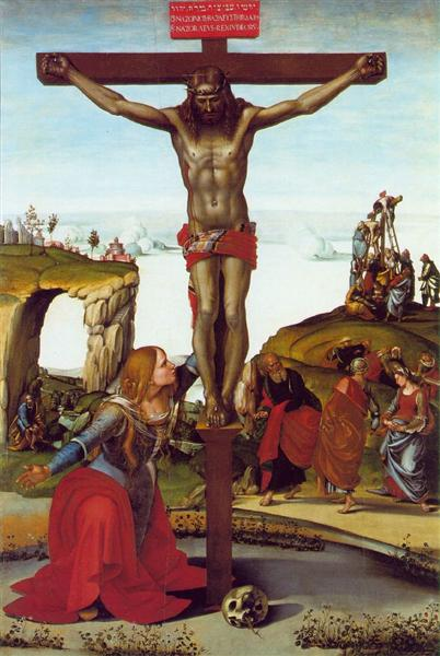 The Crucifixion with St. Mary Magdalen - Signorelli Luca