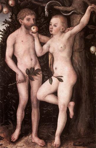 Adán y Eva - Lucas Cranach el Viejo