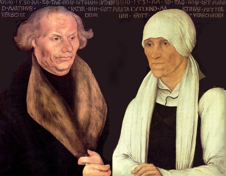 Hans and Magrethe Luther, 1527 - Lucas Cranach der Ältere