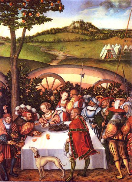 Judith at the Table of Holofernes, 1531 - Lucas Cranach the Elder