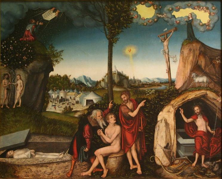 Law and Grace, 1529 - Lucas Cranach der Ältere