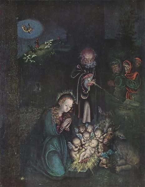 Nativity (Holy Night, Christmas), c.1520 - Lucas Cranach der Ältere