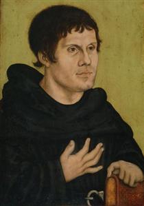 Портрет Мартина Лютера как монаха-августинца - Лукас Кранах Старший