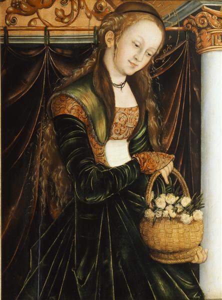 St. Dorothea, c.1530 - Лукас Кранах Старший