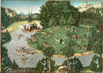 Охота на оленя курфюрста Фридриха III Мудрого - Лукас Кранах Старший