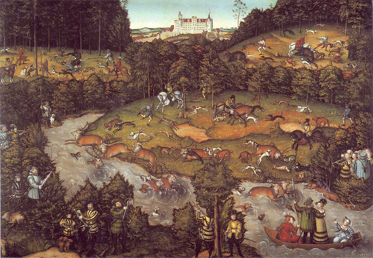 The Deer Hunting Lucas Cranach The Elder Wikiart Org