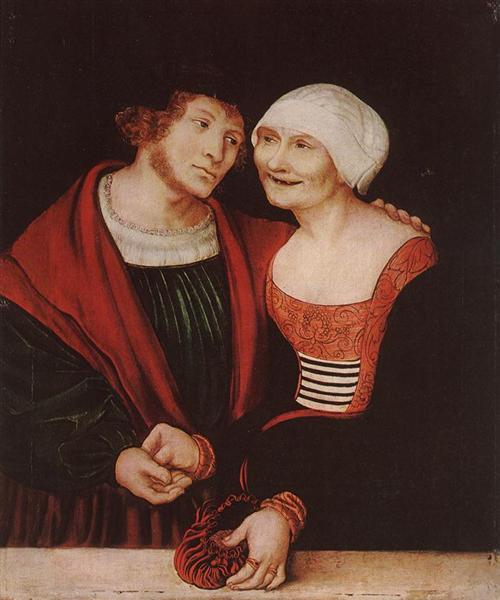 The Infatuated Old Woman, 1520 - 1522 - Lucas Cranach der Ältere