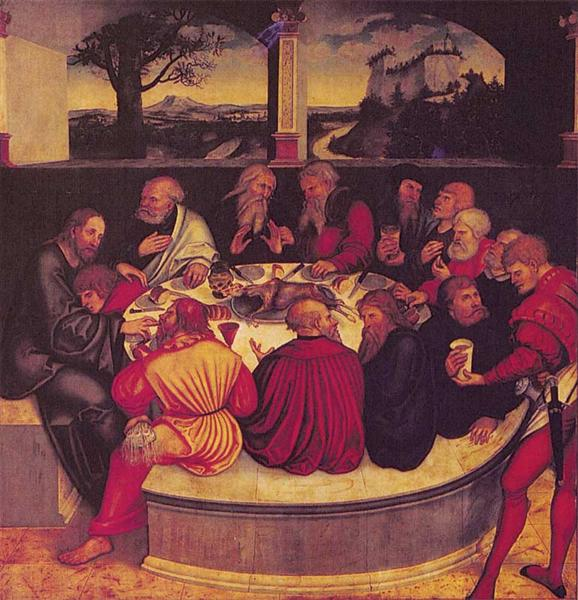 The Last Supper, 1547 - Lucas Cranach der Ältere