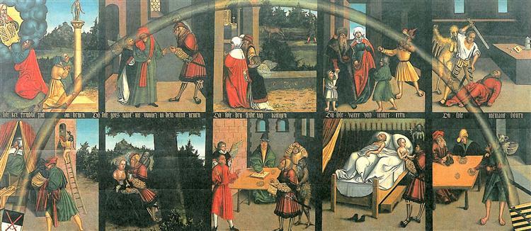 The Ten Commandments, 1516 - Lucas Cranach der Ältere