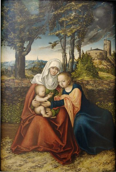 Virgin and Child with St. Anne, c.1520 - Lucas Cranach der Ältere