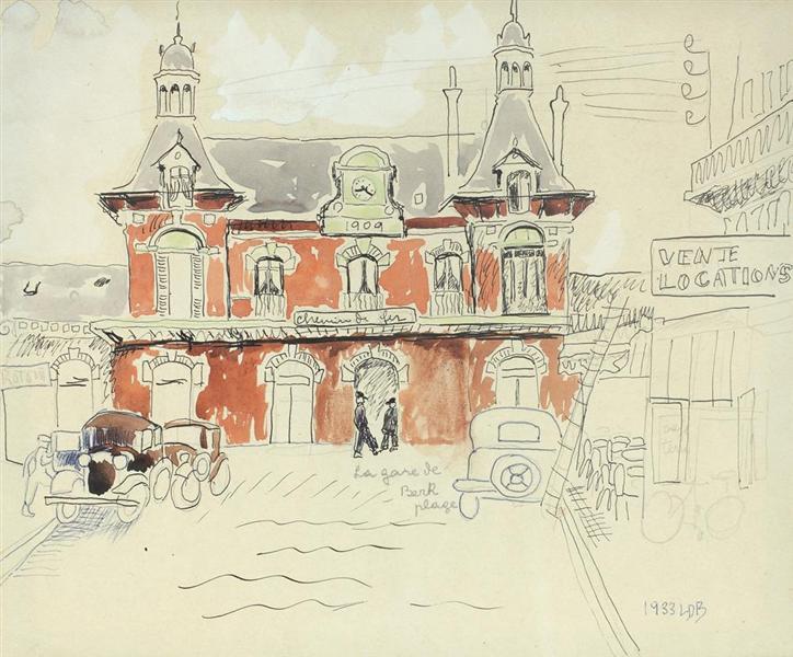 La gare de Berk-Plage, 1933 - Lucia Demetriade Balacescu