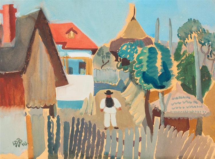 Scenă sătească, 1943 - Lucia Demetriade Balacescu