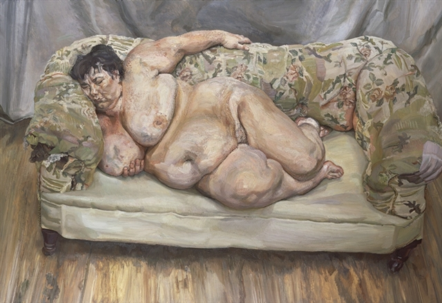 Benefits Supervisor Sleeping (also known as Big Sue), 1995 - Lucian Freud