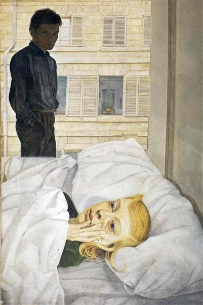 Комната в гостинице - Люсьен Фрейд