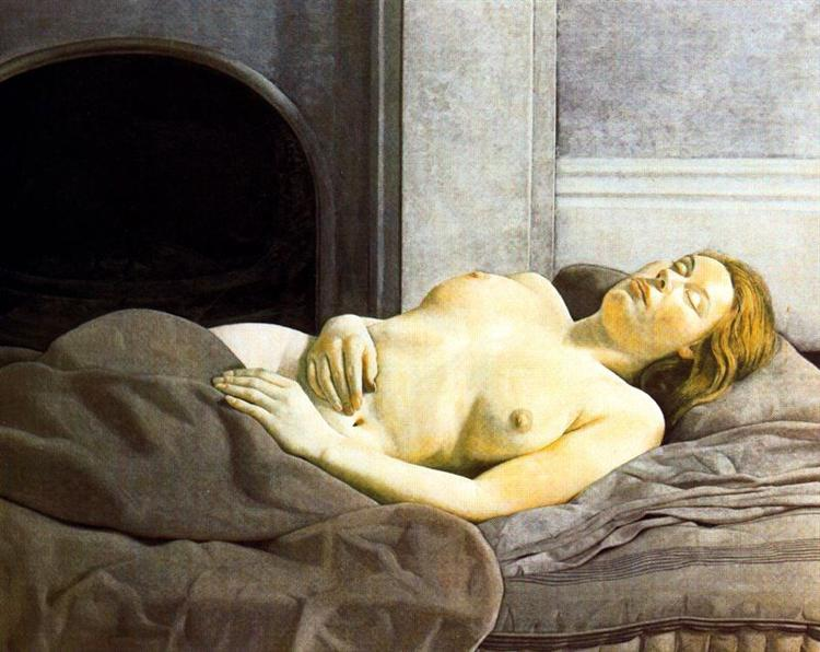 Sleeping Nude - Lucian Freud