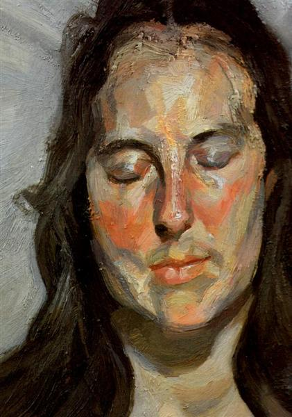 Woman with Eyes Closed, 2002 - Lucian Freud