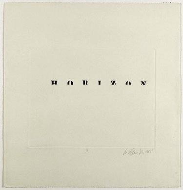 Horizon - Luis Camnitzer