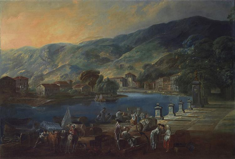 View of El Arenal in Bilbao, 1784 - Луис Парет-и-Алькасар