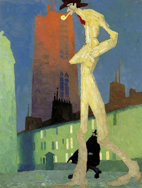The White Man, 1907 - Lyonel Feininger