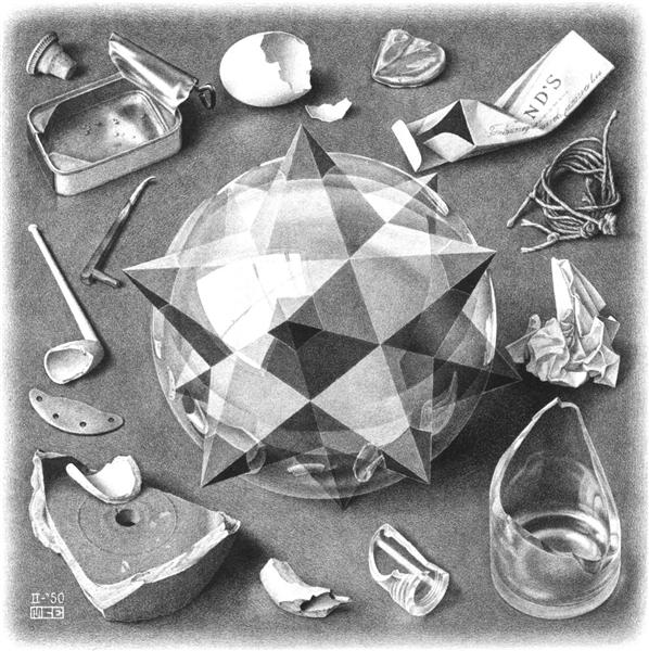 Contrast (Order and Chaos), 1950 - M.C. Escher