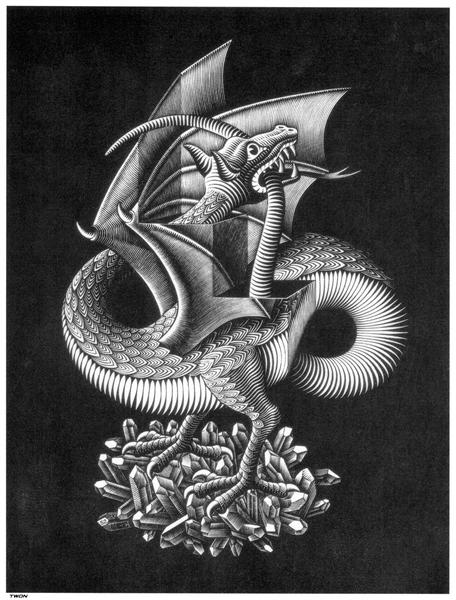 Dragon, 1952 - M.C. Escher